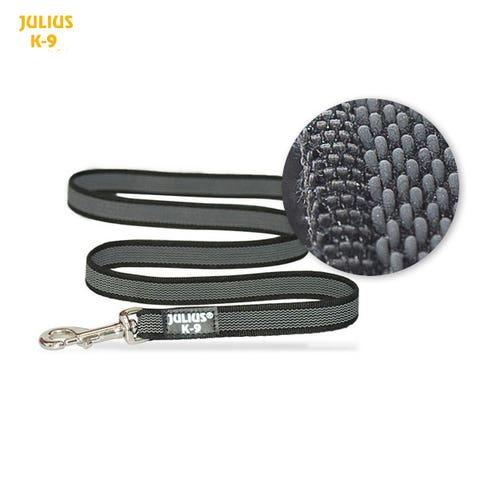 Julius K9 Super-Grip Leash - Black / Grey - 1.2m Length / 14mm Width 218GM-1,2