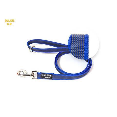 Julius K9 Super-Grip Leash - Blue / Grey - Dogs up to 50kg - (216GM-B-1,2)