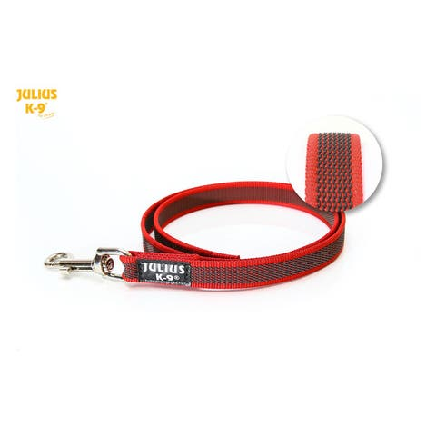 Julius K9 Super-Grip Leash - Red / Grey - Dogs up to 50kg - (216GM-R-1,2)