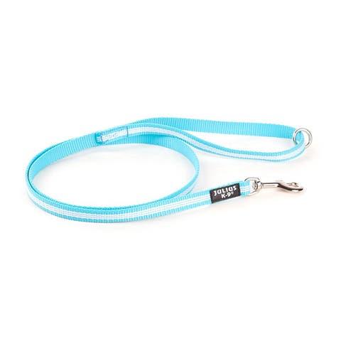 Julius K9 IDC Tubular Webbing Leash with Ring  |  Aquamarine  |  1.2m Length  |  14mm Width  |  218-NL-1,2HS-AM