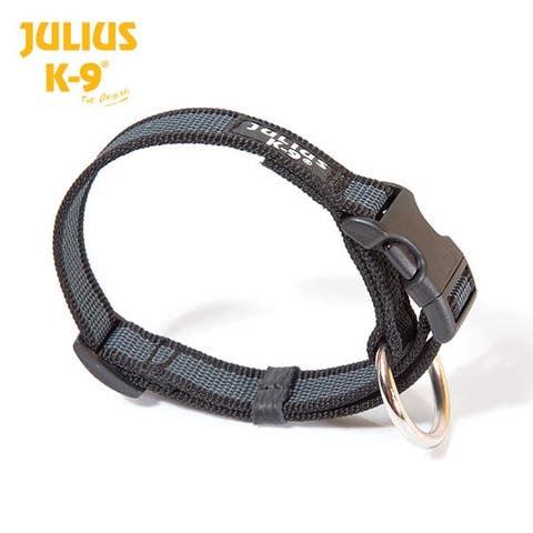Julius K9 Comfort Walking Collar - Black-Grey - (220CG)