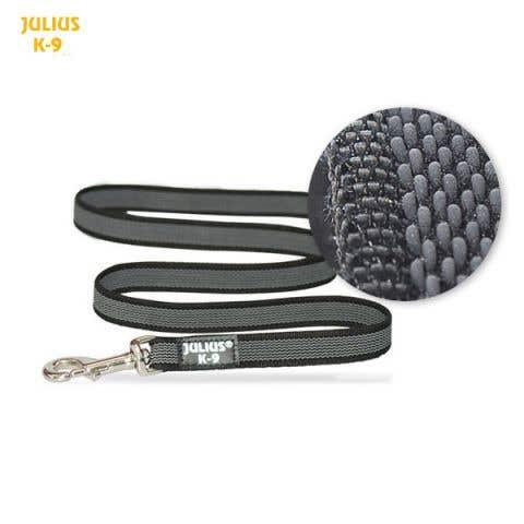 Julius K9 Super-Grip Leash - Black/Grey - Dogs up to 50kg (216-GM-1.2m)
