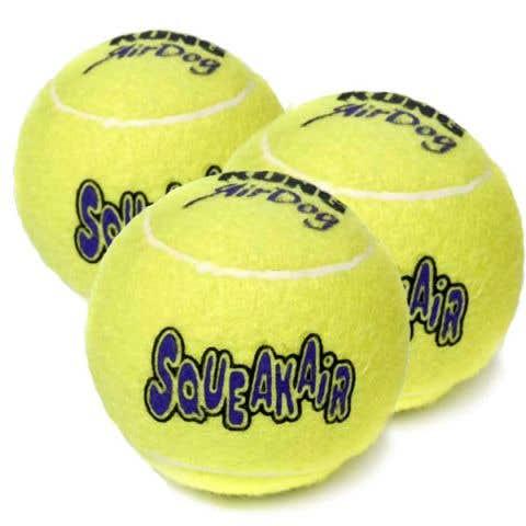 KONG SqueakAir Tennis Ball - Medium - 3 Pack