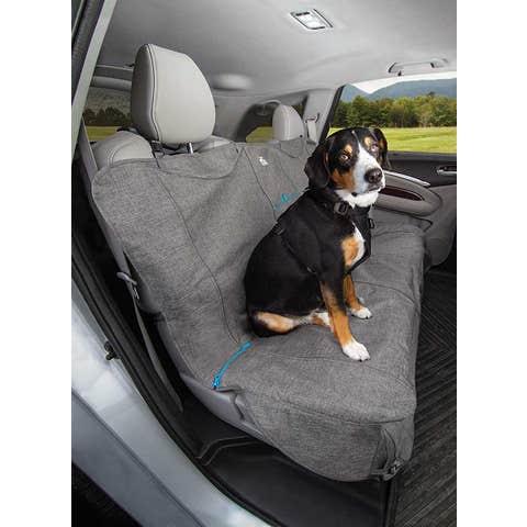 Kurgo Heather Bench Seat Cover - Grey/Blue - K01600