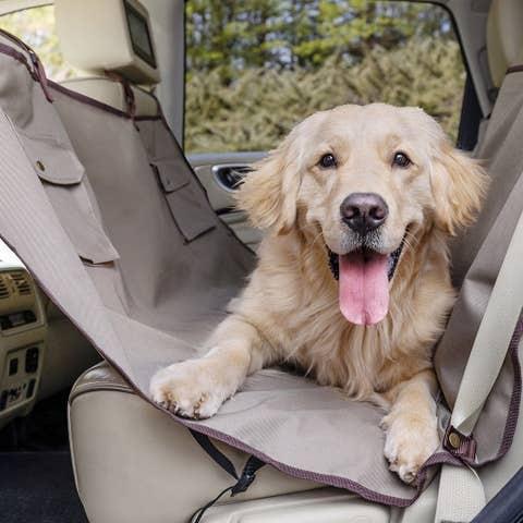 PetSafe Happy Ride Hammock Seat Cover Tan - PTV17-16895 (Formerly Solvit)