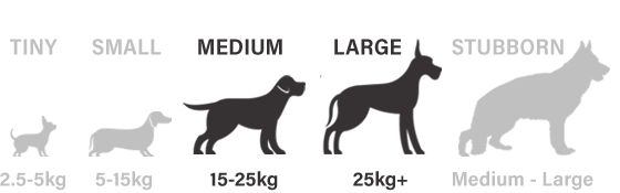 Suitable for medium and large dogs