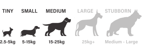Suitable for tiny, small and medium sized dogs